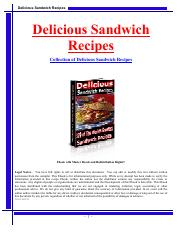 Delicious Sandwich Recepies