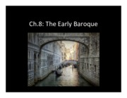 Ch.8 - Early Baroque