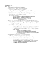 Rise of Christianity Notes 9-19-12