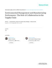 enveronmental management and manufacturing performance