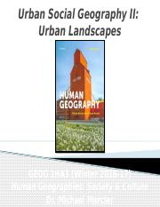 GEOG 1HA3 - Winter 2017 - Lecture 19 - Cities & Settlement V - Urban Social Geography II - Urban Lan