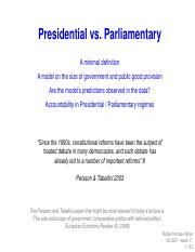 week 17 - PresidentialParliamentary