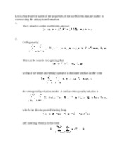 Clebsch Gordon Coefficients notes