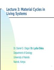 Lecture 03 - SGL409_Material Cycles in Living Systems_v2