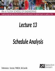 Lecture 13dm Schedule Analysis(1)