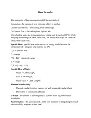 Lecture 14 Notes, Heat Transfer