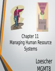 MGMT8 CH11 Managing HR