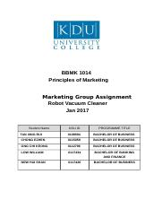 marketing group assignment