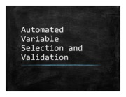 08 Automated Model Selection and Validation