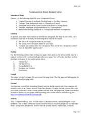 Compare contrast essay instructions