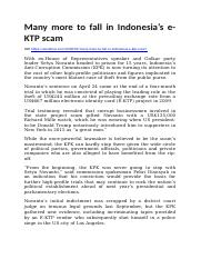 Many more to fall in Indonesia's e-KTP scam.docx