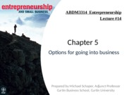 Lecture #14 - Into Business(1)