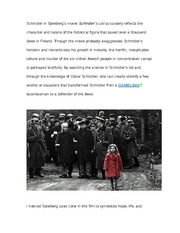essay on schindlers list movie  · get access to schindler s list essays only from anti essays listed results 1 - 30 schindler's list essay movie schindlers list the main character.