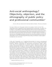 Ethnographie of public policies - Mosse