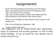 Assignments 1 & 2, The Worst Mistake In the History of The Human Race, Why the future doesn't need u