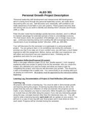 Personal Growth Project Description0