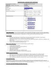 Syllabus OLS 284 Fall 2013
