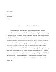 The Great Gatsby literary criticism final draft