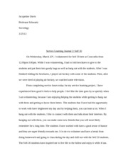 Service Learning Journal 2: Self 30