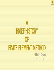 A Brief History of Finite Element Method.pdf