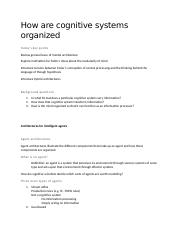 10 - How are cognitive systems organized.docx