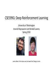 lecture1_intro pdf - CSE599G Deep Reinforcement Learning University