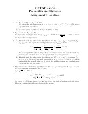 PSTAT 120C Assignment 1 Solution.pdf