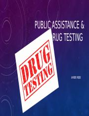 public assistance and drug testing .pptx