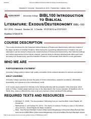 Concourse _ BIBL100 Introduction to Biblical Literature_ Exodus_Deuteronomy