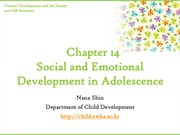 Chapter14. Social and Emotional Development in Adolescence part I (cyber)