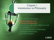 1 week 1 what is philosophy class I