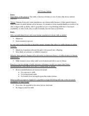 ANT 001 S14 Essay Outline