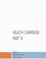 HCS 535 PP template Health campaign Part III (1).pptx