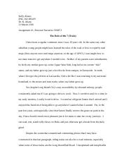 Eng 102 personal narrative assignment eng 102 dr kelly aliano 5 pages kelly aliano sample assignment 1 fandeluxe Images