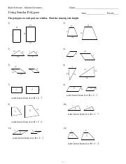 Printables Similar Polygons Worksheet using similar polygons kuta software infinite geometry name using