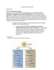Accounting 132 Study Guide