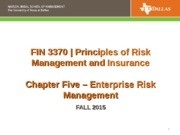 FIN 3370 CH 5 Enterprise Risk Mgmt Fall 2015