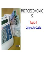 BAFB1023 Topic 4 Output  and  Costs.ppt