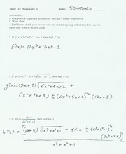 Solutions to Homework Set 2, Ma123,F04