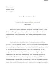 Einstein Hero documented essay.docx