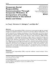 Corporate Social Responsibility Communication Through Corporate Websites_A Comparison of Leading Cor