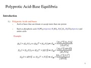 Lecture 19-20 Polyprotic Acids and Bases