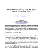 181984297-Review-of-Shape-memory-alloy-as-damping-material-for-vibration-control-doc