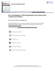 An Investigation of Brand Related User Generated Content on Twitter.pdf