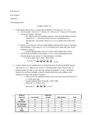 Statistics Chapter 4 Write Up