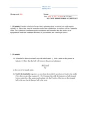 Physics 325 Spring 2011 Homework 9