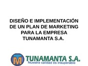 DIAPOSITIVAS plan de marketing