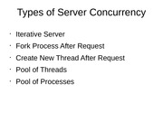 Types of Server Concurrency
