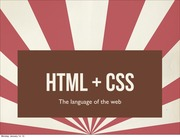 Lecture 1 - HTML + CSS