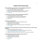 Chapter 19 Post-Lecture Quiz with answers